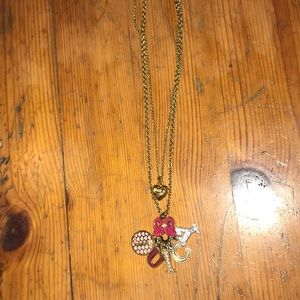 Juicy Couture Gold Charm Necklace